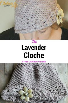 My Hobby Is Crochet: Free Crochet Pattern: The Lavender Cloche | Guest Blog Post