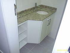 gabinete para banheiro com angulo - Pesquisa Google
