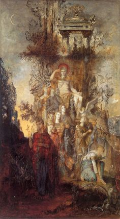 Muses leave their father Apollo to go illuminate the world. Gustave Moreau (1826-1898).