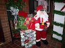 WELCOME CHRISTMAS-SANTA @ FRONT ENTRANCE [HO-HO-HO] PRESENTS AWAIT YOU FROM SANTA CLAUS!