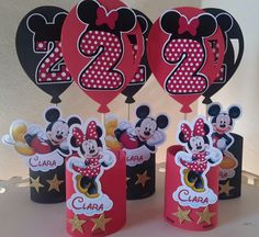 Minnie Mouse Birthday Theme, 2nd Birthday Party For Girl, Kids Birthday Themes, Minnie Mouse Party, Mouse Parties, Mini Mousse, Mickey Mouse Crafts, Mickey Mouse Characters, Party Time