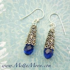 MettaMoon Crystal Blue Swirl Earrings 20% OFF NOW!!! Ends Tomorrow!!!