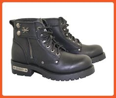 Xelement 2505 Righteous Womens Black Zipper Motorcycle Boots - 8 - Boots for women (*Amazon Partner-Link)