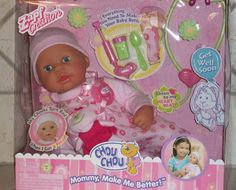 "CHOU CHOU MOMMY MAKE ME BETTER BABY DOLL ZAPF CREATION *** Our tiny ""Aspiring Doctor-Mommy"" would LOVE nursing this baby doll back to health!!"