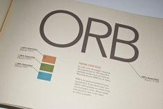 ORB Brand Identity Guidelines Brochure by Amanda Goddard, via Behance