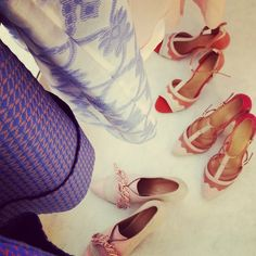 Spring / Summer 2015 - Nolcha Fashion Week / New York Ballet Shoes, Dance Shoes, Spring Summer 2015, Lace Up, Flats, York, Fashion, Ballet Flats, Dancing Shoes