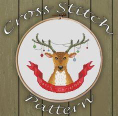 #crossstitch #xstitch #xstitching #crossstitchpattern #xstitchpattern #christmas #deer