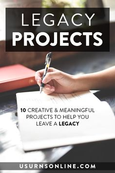 10 Meaningful Legacy Project Ideas - What do you want your legacy to be? Here are some projects that will help you define your legacy while giving you something to pass down to your loved ones. Legacy Quotes, Legacy Projects, Marriage Retreats, Leaving A Legacy, Family Presents, Sober Life, End Of Life, Life Advice, Family Quotes