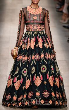 Veletta Arabesque Long Sleeve Full Skirt Gown by #Valentino for Preorder on #ModaOperandi