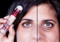 26 Inexpensive Beauty Products That Are Better Than The Expensive Versions Maybelline instant age rewind concealer, doesn't settle in wrinkles & brightens up eye area.