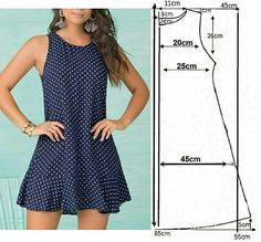 Girl Dress Patterns, Skirt Patterns Sewing, Clothing Patterns, Patron Vintage, Casual Outfits, Fashion Outfits, Sewing Clothes, Ideias Fashion, Fashion Looks