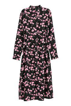 Skjortklänning - Svart/Blommig - DAM | H&M SE 1