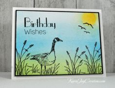 Stampin' Up Moon Lake Masculine Handmade Birthday Card with Clearly Besotted It's Your Birthday Sentiment