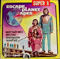 Kim Hunter and Roddy McDowall in Escape from the Planet of the Apes Super 8 Film, Comic Art, Comic Books, 8mm Film, Film Stock, Movie Covers, Planet Of The Apes, Home Movies, Classic Films