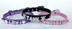 Charmsations - Pink 11 inch Deluxe Rhinestone Pet Collar, $8.00 (http://www.charmsations.com/pink-11-inch-deluxe-rhinestone-pet-collar/)