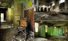 Photographer Mark Davies spent more than six years visiting abandoned psychiatric hospitals, such as this one in Epsom, Surrey, to see what remains of the places where inmates once lived