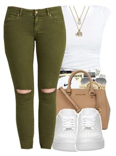 10.31.15 by jadeessxo on Polyvore featuring Ray-Ban, NIKE and ABS by Allen Schwartz