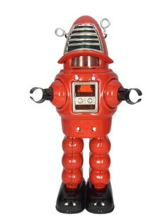 Red Robot Toy | Vintage and Retro Space Age Raygun, Rocket and Robot Toys | Sugary.Sweet  | #SpaceAge #Toy #Robot #SciFi