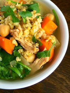 Middle Eastern Chicken Soup with Freekeh