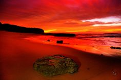 Title: The Red Mile Location: Turimetta Beach Beach, Water, Red, Prints, Outdoor, Image, Gripe Water, Outdoors, The Beach