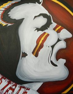 Florida State Seminole painting sports art college by crockerart, $85.00