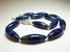 Lapis Lazuli Navett Collier von schmuckbewusst-woman auf DaWanda.com