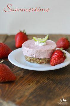 Raw strawberry margarita cheesecake cups
