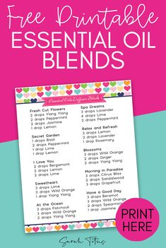 Get this free printable Moms Essential Oil Diffuser Blends, inspired by your amazing kindness and love! Essential Oil Diffuser Blends, Essential Oils, Printable Recipe Sheets, Printable Stickers, Doterra, Diffuser Recipes, Jasmine, Free Printables, Bliss