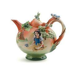 Snow White decorative porcelain teapot.