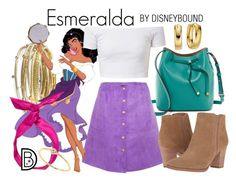 """Esmeralda"" by leslieakay ❤ liked on Polyvore featuring Lodis, Kendra Scott, Franco Sarto, yunotme, Sydney Evan, disney, disneybound and disneycharacter"