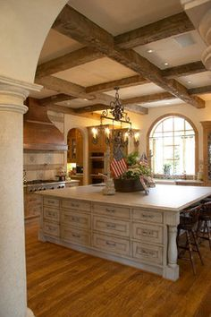 French Country Kitchen - LOVE that island!