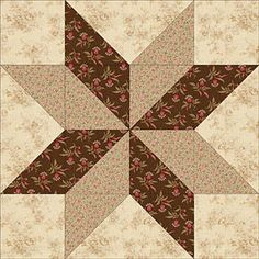 Quilt Patterns for 4 pattern five inch squares | Quilt Block Patterns - Sarah's Choice Quilt Block Pattern
