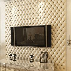 (32.23$)  Watch more here - http://aia76.worlditems.win/all/product.php?id=32794100166 - Luxury fashion leather 3d stereotelevision wall wallpaper brief bag wallpaper