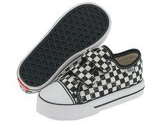 Vans Kids Big School Core (Infant/Toddler) (Checkerboard) Black/True White - Zappos.com Free Shipping BOTH Ways