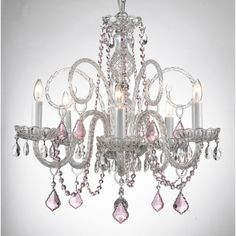 Gallery Venetian Style All-crystal Chandelier with Color Crystal ($173) ❤ liked on Polyvore featuring home, lighting, ceiling lights, black, black chandelier, black chandelier light, black lamp, colored crystal chandelier and venetian chandelier