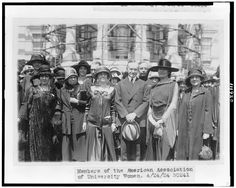 [President Coolidge standing with members of the American Association of University Women on the White House lawn; visible in the background is the White House scaffolded for repairs] Calvin Coolidge, April 24, Library Of Congress, Presidents, University, American, Thrift, Pennsylvania, Benefit