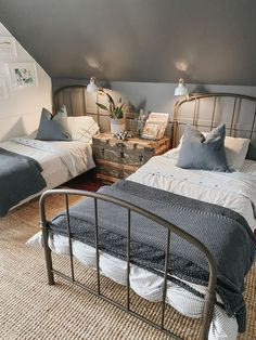 Shared Boys Rooms, Teen Boy Rooms, Big Boy Bedrooms, Shared Bedrooms, Boys Bedroom Decor, Home Bedroom, Boy Bedroom Designs, Boys Room Design, Guest Bedrooms