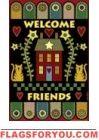 Pennyrug Welcome Friends Garden Flag - 1 left House Flags, Garden Flags, Folk Art, Rugs, Friends, Holiday Decor, Farmhouse Rugs, Amigos, Popular Art