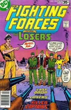 COMIC BOOKS FOR SALE! Our Fighting Forces Issue #178: Last Drop for Losers; The Killer Captains - Printing #1 April 1978 - $3.98 - Very Fine - 3-67155