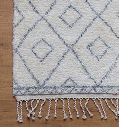 Grey Moroccan Diamond Rug // Caitlin Wilson