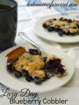 The Lazy Day Blueberry Cobbler