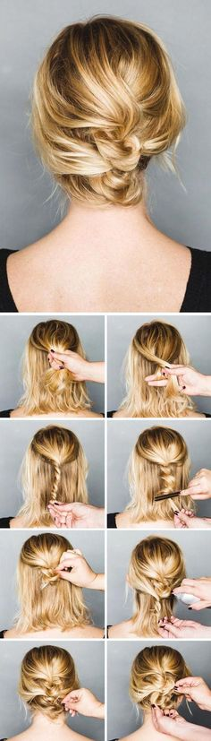 Pretty messy updo tutorial