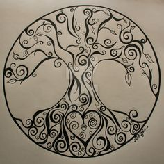 """Sandy's Tree of Life by Saint-Angel.deviantart.com on @DeviantArt """"hide"""" my kids names in it or our initials. I've been looking for something just like this for a long time."""