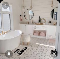 Bathroom interior design 306948530855824525 - Love this bathroom. Probably would do wood floors or squared tile Source by Dream Bathrooms, Dream Rooms, Teen Bathrooms, Master Bathrooms, Shiplap Master Bathroom, White Bathrooms, Small Bathrooms, Bathroom Inspiration, Home Decor Inspiration