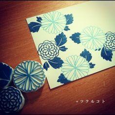 和はんこしてます - + ツ ク ル コ ト Crafts To Sell, Diy And Crafts, Stamp Carving, Handmade Stamps, Pencil And Paper, Painted Paper, Tampons, Linocut Prints, Diy Scrapbook