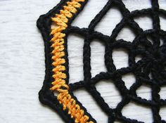 Halloween coasters set of 6 crochet spider web coasters