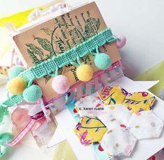 Pom Pom Trim, Paper Design, Hand Stitching, Home Crafts, Paper Art, Embroidery, Pretty, Artist, Diy
