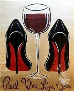 """>>> Say acclaim to these wine confined .[[caption id="""""""" align=""""aligncenter"""" Wine Lips Soles - paint and wine houston heights Night Painting, Diy Painting, Shoe Art, Black Art Painting, Painting, Black Girl Art, Canvas Art Painting, Wine Painting, Canvas Painting Diy"""