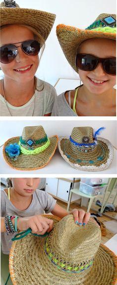 """Workshop """"maak een Ibiza-hoed"""".   Workshop """"DIY Ibiza-head"""" by Knutselkantine.nl"""