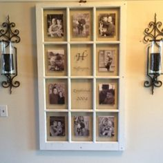 Antique Window Picture Frames | Window becomes picture frames by ldgarza413